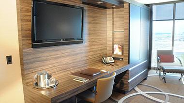 M Resort Room TV and Desk