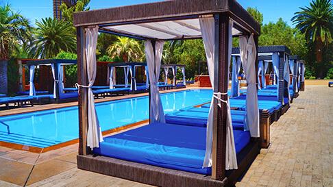 shades of green resort address m pool vip day bed cabanas available m resort las vegas