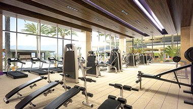 Fitness center at spa mio m resort